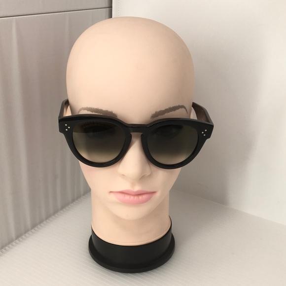 853b244d94 Celine Accessories - Celine Oversized Black Thin Preppy Sunglasses
